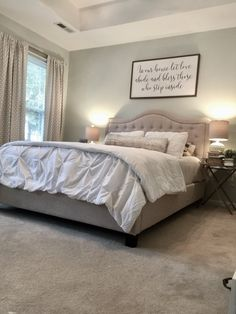 From Ivy Wallpaper to Fresh and Romantic…Our Master Bedroom Update – Hello Charming Home