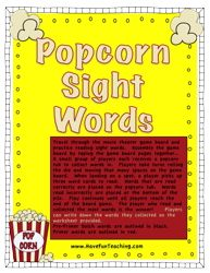 Word Recognition Pin 2: Popcorn Sight Words: word recognition activity - Have Fun Teaching. This is a fun game that can be played with the whole class, or split up by reading levels, and allows for the children to have some control over learning their sight words in a fun, encouraging way.