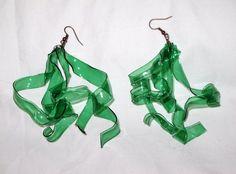 recycled plastic bottles earrings.