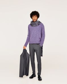 Image 1 of WOOL SUIT TROUSERS from Zara