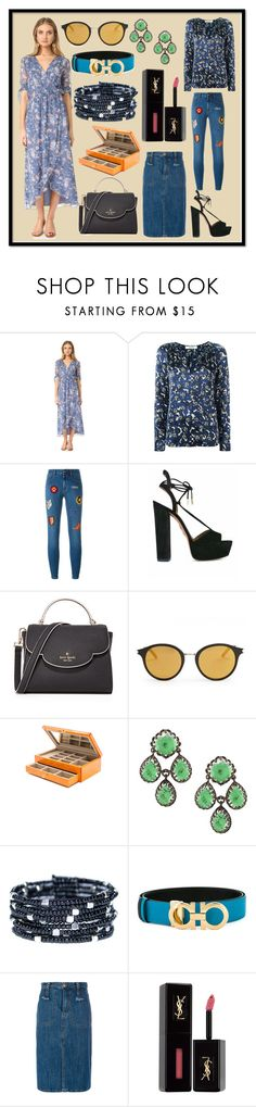 """Highly Recommend"" by cate-jennifer ❤ liked on Polyvore featuring Ella Moss, Dorothee Schumacher, STELLA McCARTNEY, Aquazzura, Kate Spade, Yves Saint Laurent, Jonathan Adler, Salvatore Ferragamo and See by Chloé"