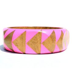 Pentagon Bangle Pink by Voz