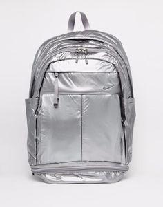 Shop Nike Metallic Silver Backpack at ASOS. 2d90bbd14b