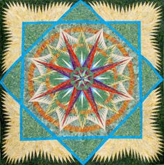 Mariner's Compass, Quiltworx.com, Made by CI Judy Wurm.