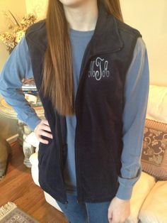 Monogramed Vest by ThePreppySeahorse on Etsy, $24.99 WHY IS THIS SO CHEAP