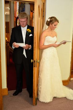 Pictures together before the wedding - Write a letter to your spouse-to-be to read before the wedding :)