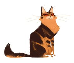 Mrs Norris One more cat for this week! Animal Sketches, Animal Drawings, Cat Design, Animal Design, Cat Character, Character Design, Funny Animal Comics, Cat Doodle, Warrior Cats