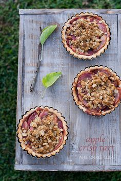 Butter Rum Apple Crisp Tart