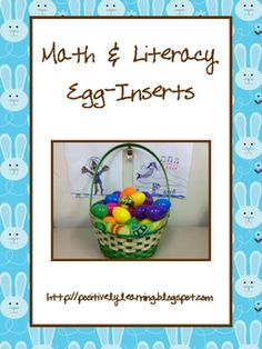 Freebie - Here's what my students have been busy with! There are egg inserts for addition facts, subtraction facts, CVC words, and CVCe words.