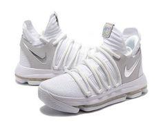 free shipping 1dbe9 3fa15 Nike KD 10 Still KD White Silver Kd Shoes, Cheap Shoes, Air Jordan Shoes