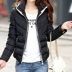 HEE GRAND 2016 Fashion Black Hooded Women Winter Jacket Thick Cotton Mulheres Casaco De Inverno Solid Short Coat M-XXXL WWM1452