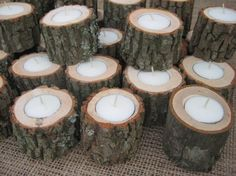Country Shabby Chic Wedding | My country, shabby chic, vintage, forest wedding... / wood candles
