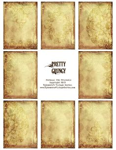 Ephemera's Vintage Garden: Free Printable - Pretty Grungy Tag Backgrounds
