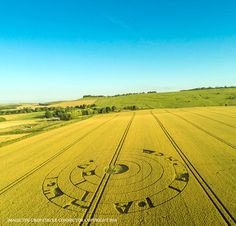 Crop Circle at Burderop Down, Nr Barbury Castle, Wiltshire, England, UK. Reported 20th July 2016.