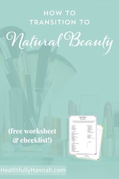 With the thousands of chemicals allowed in the cosmetic industry, it's not surprising that we're applying 160+ harmful chemicals to our bodies every day in the form of deodorant, shampoo, makeup, and more!  This worksheet and checklist will help you transition to safer cosmetics!