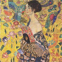 Lady With Fan (1917-18) by Gustav Klimt