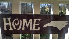 North Carolina Home Wood Signs, Home, Home Decor, Signs, House Decor, Rustic Decor, Wooden House Signs, Housewarming, Gifts by CandlesandWood on Etsy  https://www.etsy.com/listing/267159536/