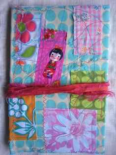 adorable. Have girls sew fabric scraps onto burlap and cover canvas???