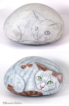 [bianco.jpg] A demonstration for painting rocks