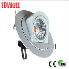 10W adjustable COB LED downlight 700-900lm