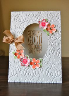 Stampin' Up! Petite Petals aperture card by Julie