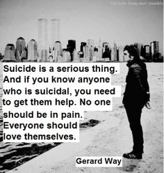 Gerard Way, on suicide and getting help