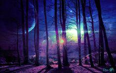 #planets #universe #purple #pink #blue #trees #woodland #forest #sun #aliens #alien  #fantasy #fairytale #surrealism #surrealistic Blue Trees, Alien Worlds, Woodland Forest, Collage Artists, Surreal Art, Digital Collage, Art Day, Aliens, Surrealism