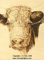 cow pattern wood carving animal fur and hair