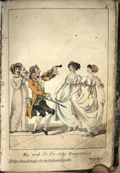 Kotzebue 's Almanach dramatischer Spiele mit 6 altkolor. Kupfertaf. v. 1805.