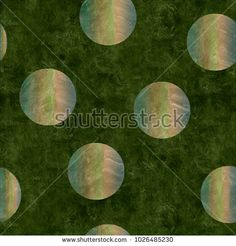 green background with gradient holografic foil dots