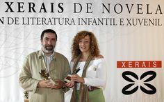 Ramón Carredano e Teresa Moure. Gañadores dos Premios Xerais 2005