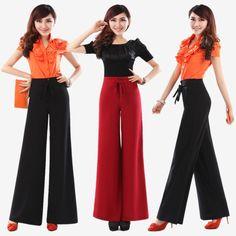 2014 Spring women's wide leg pants trousers  high waist women fashion  plus size capris  XXS XS S M L XL XXL XXXL 4XL 5XL 6XL
