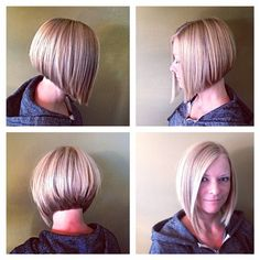 Long Bob Hairstyles, Fancy Hairstyles, Wig Hairstyles, Cool Blonde Hair, Honey Blonde Hair, Short Hair Cuts, Short Hair Styles, Angled Bob Haircuts, Haircut And Color