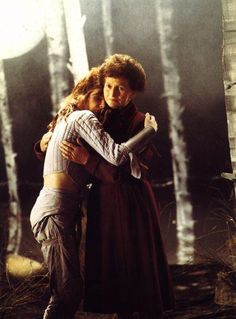 """Kate Bush with her mother, Hannah, in the video clip for """"Suspended In Gaffa"""""""
