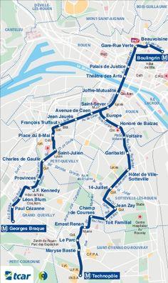 #Rouen es una de las más pequeñas ciudades de Francia que dispone de un sistema de transporte urbano con una parte subterránea. Además de la propia ciudad el metro de Rouen llega hasta los suburbios de Petit-Quevilly, Grand Quevilly, Sotteville-lès-Rouen y Saint-Etienne-Rouvray. #metro