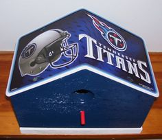 Tennessee Titans License Plate Birdhouse by PineTreeBirdhouses, $25.00