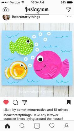 Ocean beach sea fish themed summer craft idea!
