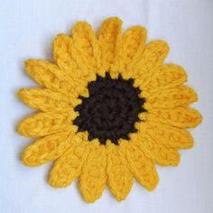 Crochet sunflower pattern that I am using to make decoration my kitchen.