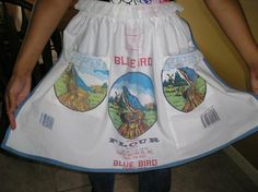 """I made this for my sweet niece & gave it to her for a bridal shower gift...A great way to use all those """"Blue Bird"""" flour sacks...heehee  This was a fun project.  :)"""