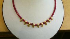 R Gold Earrings Designs, Gold Jewellery Design, Bead Jewellery, Necklace Designs, Gold Jewelry, Beaded Jewelry, Gold Necklace, Gold Pendent, Jewelry Patterns