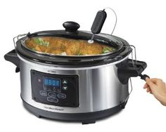 Hamilton Beach Set and Forget 6qt Slow Cooker from Hamilton Beach   $49.88  #crock pot slow cooker#