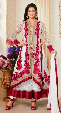 Luscious White #Salwar #Kameez