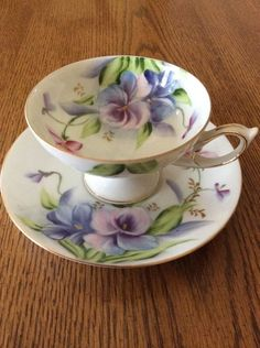 Pretty Teacup & Saucer