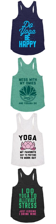 Yoga is the journey of the self, through the self, to the self. Find inner peace with this all-new collection of yoga tees and tanks.