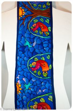 Angel Silk Scarf or Wallhanging. Handmade silk by SirenSilks