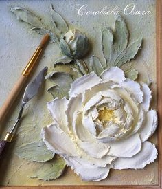 Olga Solovyeva & # s phot - Ultimo Ultimamoda Wall Painting Decor, Sculpture Painting, Wall Sculptures, Diy Painting, Paper Mache Clay, Clay Art, Plaster Paint, Cold Porcelain Flowers, Painted Cakes