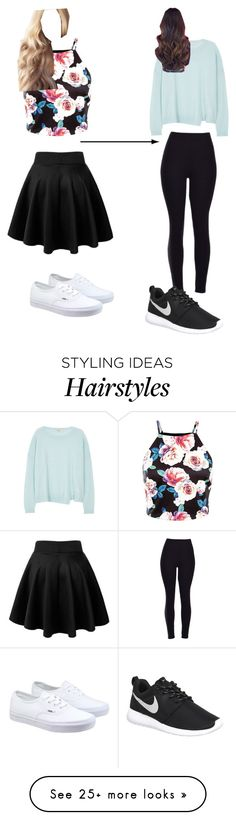 """""""Girly By Day, Tomboy By Night"""" by agg-72104 on Polyvore featuring J Brand, Vans, NIKE, women's clothing, women's fashion, women, female, woman, misses and juniors"""