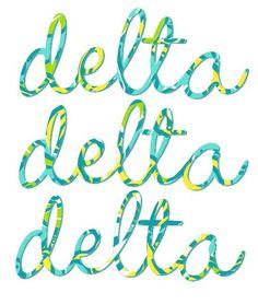 Tri Delta-lily print