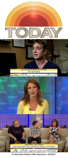 Put Dr. Brian Boxer Wachler, a Beverly Hills Ophthalmologist  on The Today Show to discuss the degenerative eye disease Keratoconus and provide a free treatment to a young boy who was losing his eyesight