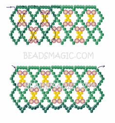 Free pattern for beaded necklace Glade | Beads Magic